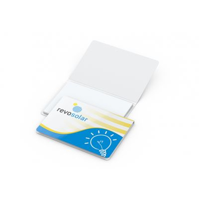 Memo-Card Haftnotiz White Bestseller inkl. 4C Druck mit Logo bedrucken - Werbeartikel