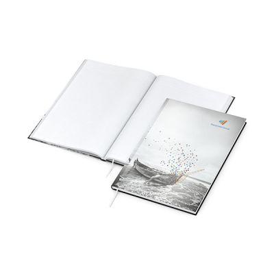 Note-Book A4 Bestseller inkl. 4C Druck mit Logo bedrucken - Werbeartikel