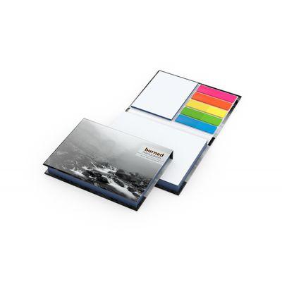 Prag White mit Farbschnitt Blau Bestseller inkl. 4C Druck mit Logo bedrucken - Werbeartikel