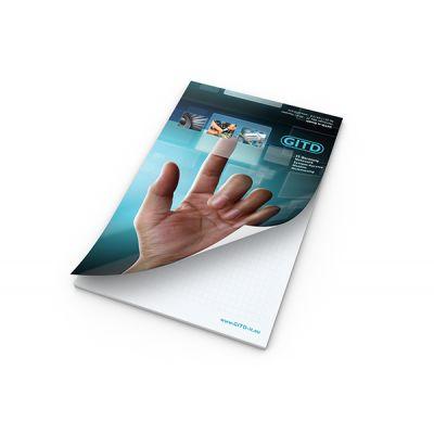 Schreibblock A5 Cover Bestseller inkl. 4C Druck mit Logo bedrucken - Werbeartikel