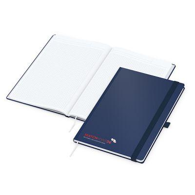 Vision-Book A4 Bestseller, blau Siebdruck-Digital inkl. 4C Druck mit Logo bedrucken - Werbeartikel