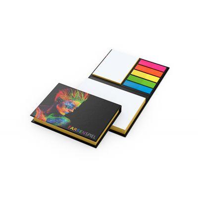 Wien White mit Farbschnitt Gleb Bestseller inkl. 4C Druck mit Logo bedrucken - Werbeartikel
