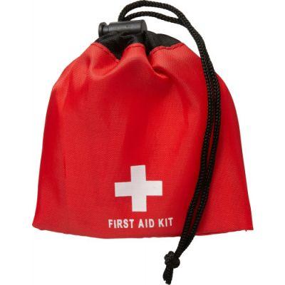 Notfall-Set 'Matchsack' aus Polyester rot - 104708
