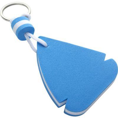 Schlüsselanhänger 'Sailing' aus EVA blau,weiß - 113445