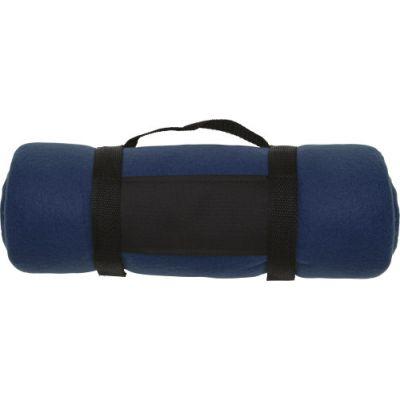 Fleece-Picknickdecke 'Central' blau - 1761