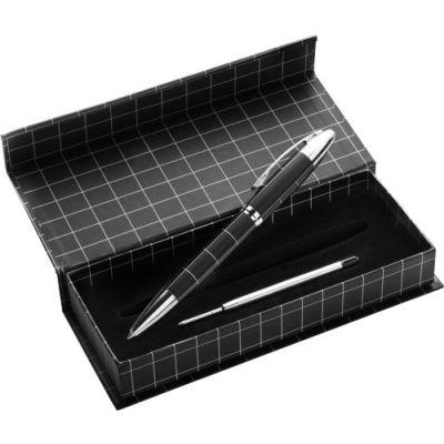 Kugelschreiber 'Castle' schwarz,silber - 205550