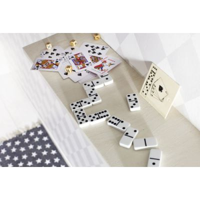 Karten und Würfelspiel 'Nevada' in Holzbox beige - G2553-999