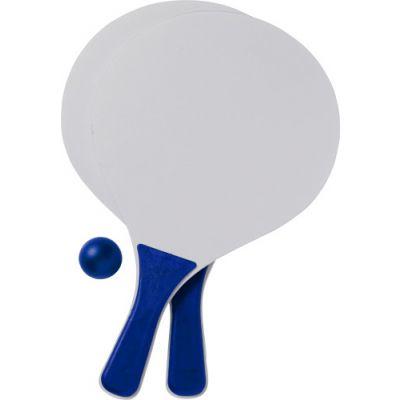 Beach-Ball-Tennisspiel 'Bravo' aus Holz blau - 2578