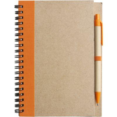 Notizbuch 'Freak' aus recyceltem Papier orange - 271507