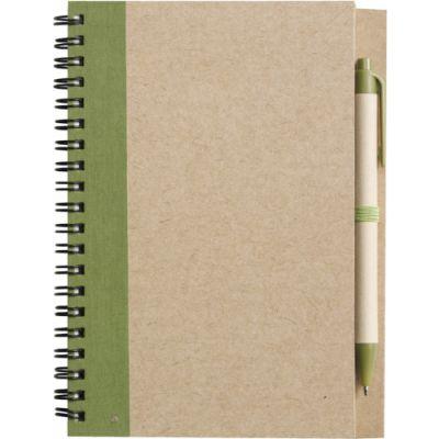 Notizbuch 'Freak' aus recyceltem Papier grün - 271529