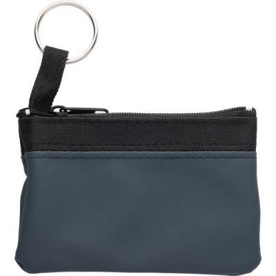 Schlüsseletui 'Zip' aus PU/Nylon blau - 2758