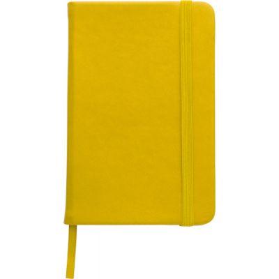 Notizbuch 'Pocket' aus PU gelb - 288906