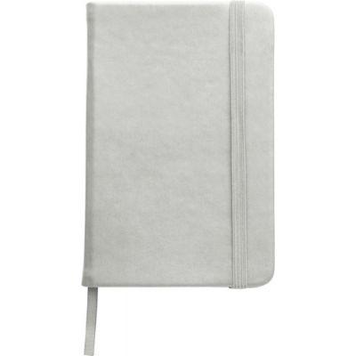 Notizbuch 'Pocket' aus PU silber - 288932