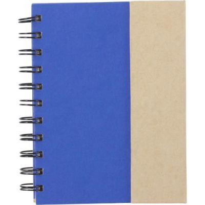 Notizbuch 'Remember' aus Karton blau - 309923