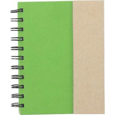 Notizbuch 'Remember' aus Karton grün - 3099