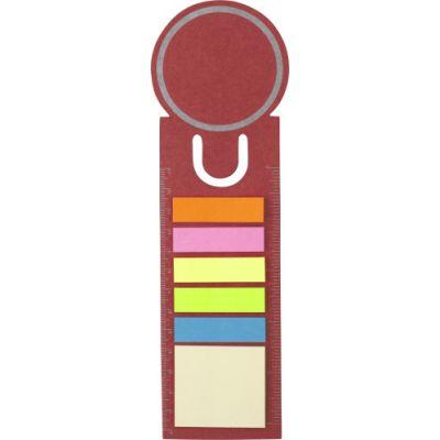 Lesezeichen 'Big Ben' aus Pappe rot - 3115