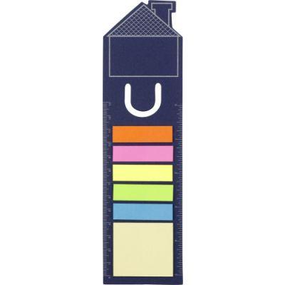 Lesezeichen 'Haus' aus Pappe blau - 3586