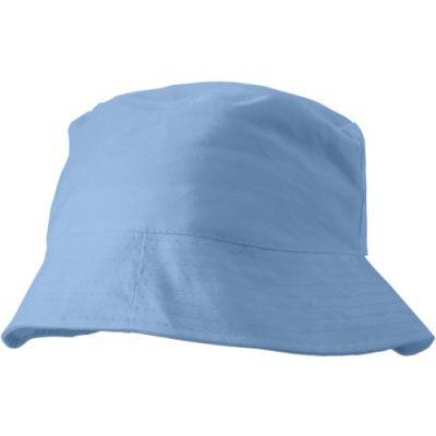 Sonnenhut 'Safari' aus 100% Baumwolle blau - G3826-018