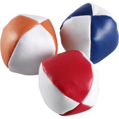 Jonglierbälle 'Triple' aus Kunstleder bunt - 397309