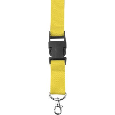 Lanyard 'Slam' aus Polyester gelb - 4161