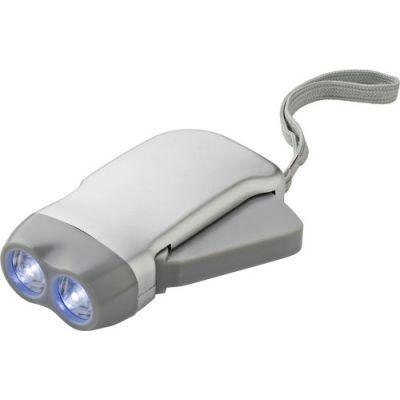 LED-Dynamotaschenlampe 'Mission' silber - 453232