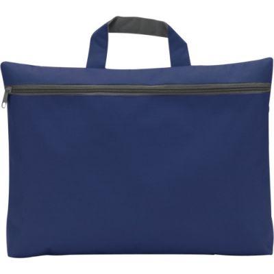 Dokumententasche 'Nassau' aus Polyester blau - 5235