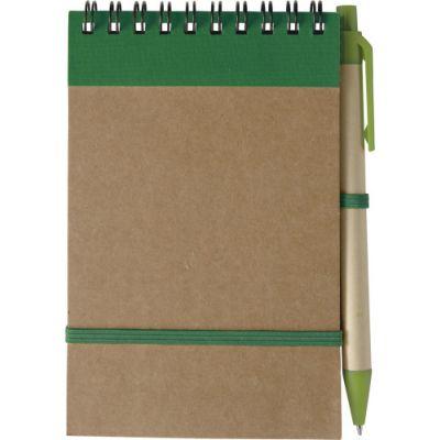 Notizbuch 'Pocket' aus recyceltem Karton grün - 541004