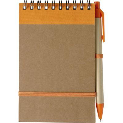 Notizbuch 'Pocket' aus recyceltem Karton orange - 541007