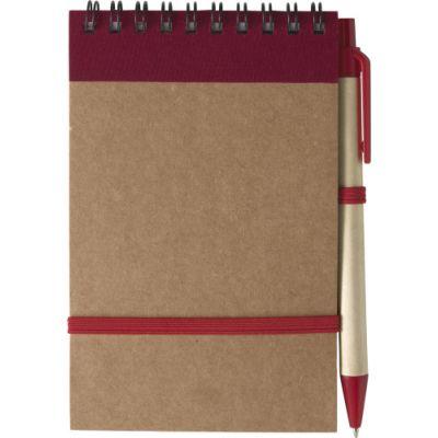 Notizbuch 'Pocket' aus recyceltem Karton rot - 541008