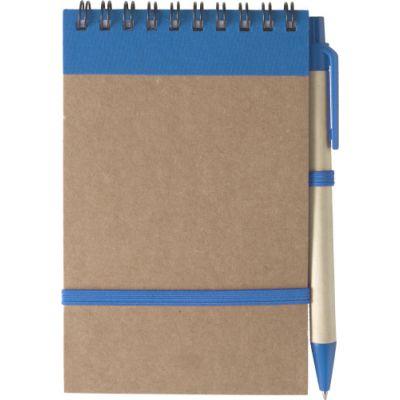 Notizbuch 'Pocket' aus recyceltem Karton blau - 541018