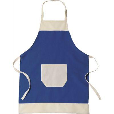 Küchen-Schürze 'Ottilie' aus Baumwolle blau - 6198