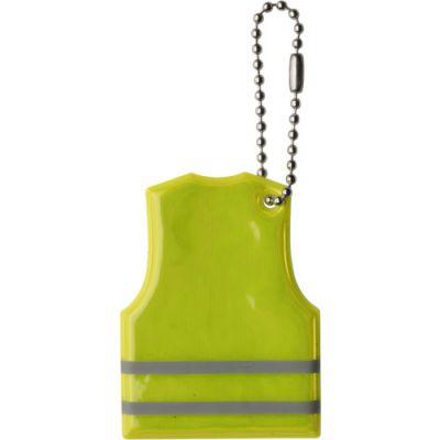 Schlüsselanhänger 'Warnweste' aus PVC gelb - 633306