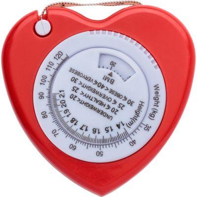 BMI Maßband 'Heart' rot - 655908