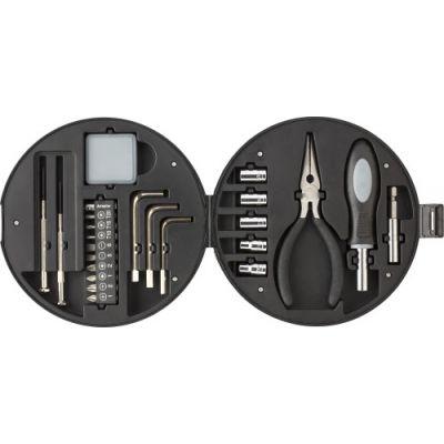 Werkzeug-Set 'Wheel' schwarz,silber - 746550