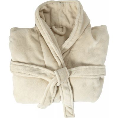 Fleece-Bademantel 'Wellness' beige - G7775-357