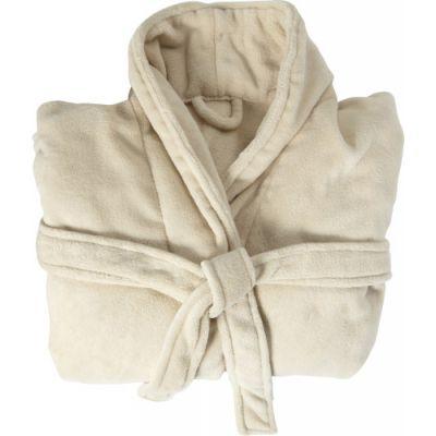 Fleece-Bademantel 'Wellness' beige - G7775-357