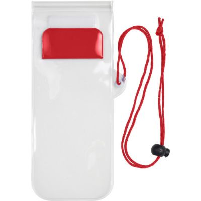 Handyschutzhülle 'Transparent', wasserresistent rot - G780708