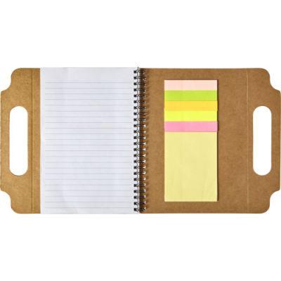 Notizbuch 'Sticki' aus recycelter Pappe braun - G781711