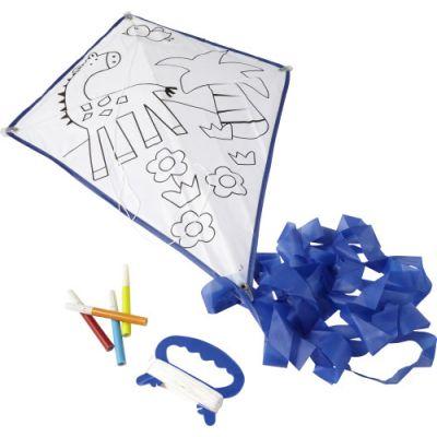 Drache 'Paint it' aus Polyester blau - G7818
