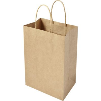 Tragetasche 'Small present' aus recycelten Papier braun - G784011
