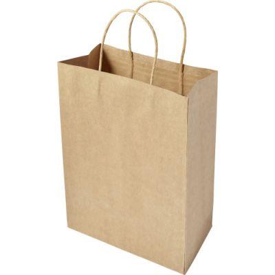 Tragetasche 'Medium present' aus recycelten Papier braun - G784111