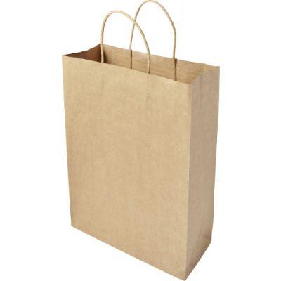Tragetasche 'Large present' aus recycelten Papier braun - G784211