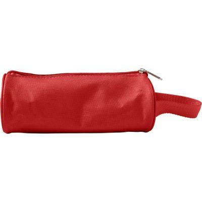 Stifte-Etui 'Flexi' aus Nylon rot - G7849