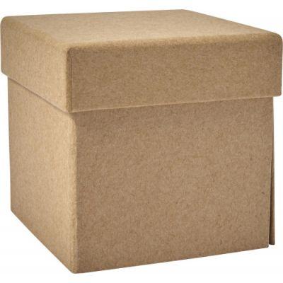 Notiz-Würfel 'Dice' aus recycelter Pappe braun - G786611