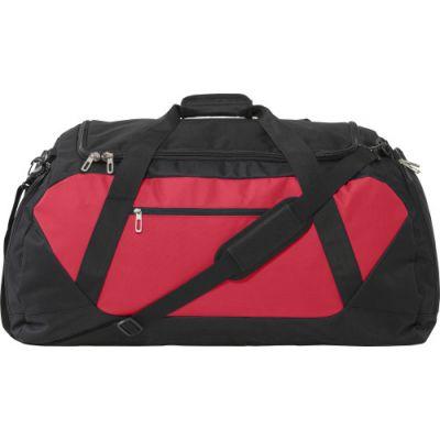 Sporttasche 'Bicolor' aus Poylester schwarz,rot - G7947