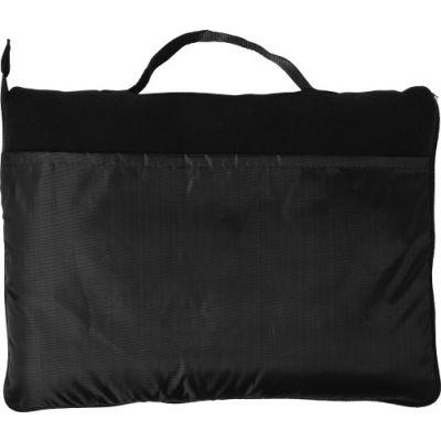 Fleece-Decke 'Groningen' aus Polyester schwarz - G7952