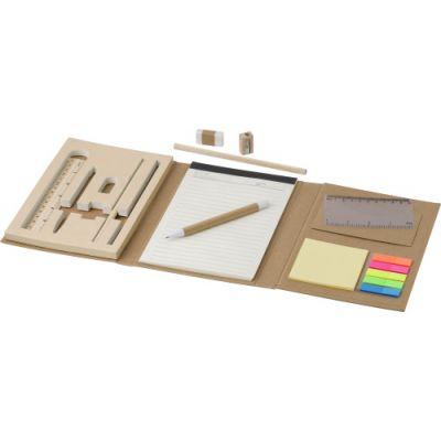 Schreibmappe 'Student' aus Karton inkl. Zubehör braun - G827311