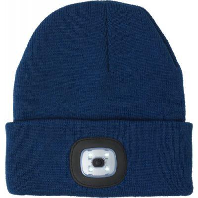 Mütze 'Shiny' aus Acryl blau - G8282-005