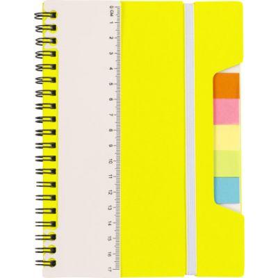 Notizbuch 'Lineal' mit Ringbindung gelb - G830006
