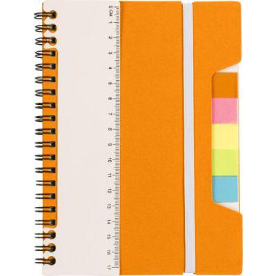 Notizbuch 'Lineal' mit Ringbindung orange - G830007